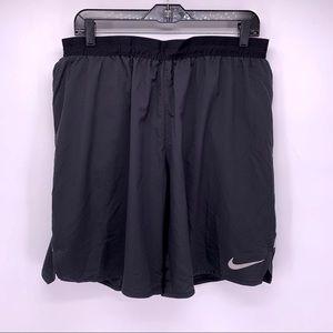 Nike Dri-Fit Black Lined Running Shorts Sz XL